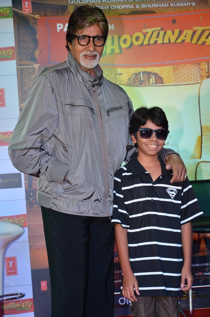 amitabh bachchan attends bhoothnath returns promotional