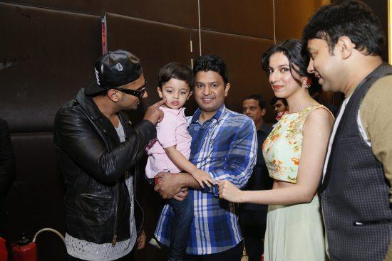 Honey Singh Son Bhushan kumar's wife and son