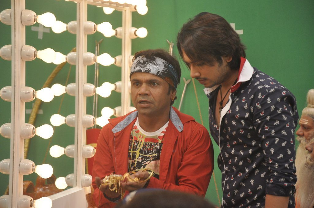 rajpal yadav on sets of hume toh loot liya bollywood garam