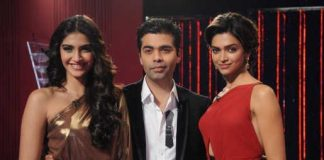 A glimpse of Deepika Padukone and Sonam Kapoor in a candid chat on 'Koffee With Karan'