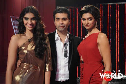 Deepika Padukone And Sonam Kapoor On Koffee With Karan