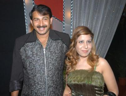 Manoj Tiwari and Rani his wife