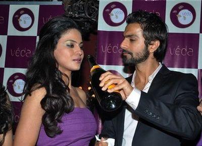 Veena Malik and Bollywood actor Ashmit Patel