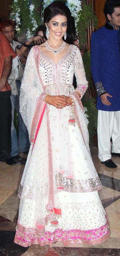 Genelia D Souza Wedding Dress Designed By Ritu Kumar Photos