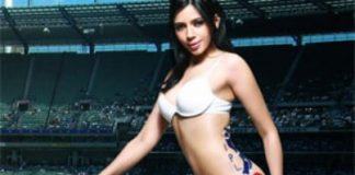 Rozlyn Khan does a Derriere baring photo shoot for IPL