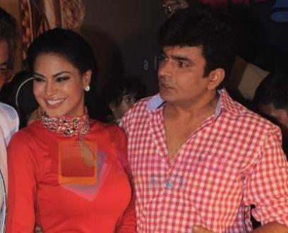 Veena Malik, Raja Chaudhary at the music launch of Dal Mein Kuch Kala Hai in Juhu, Mumbai on 7th June 2012 shown to user