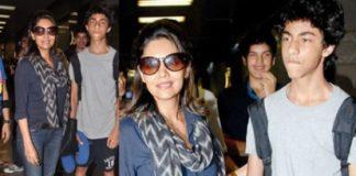 Shahrukh Khan's son Aryan leaves for London for higher studies, photos