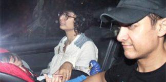 Aamir Khan takes Kiran Rao and Azad for Peekay Shoot