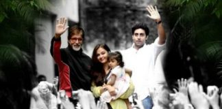 Amitabh Bachchan appears in front of fans with granddaughter Aaradhya