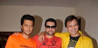 Riteish Deshmukh, Vivek Overoi and Aftab Shivdasani promote Grand Masti