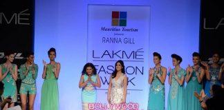 Yami Gautam walks ramp for designer Rana Gill at Lakme Fashion Week 2013