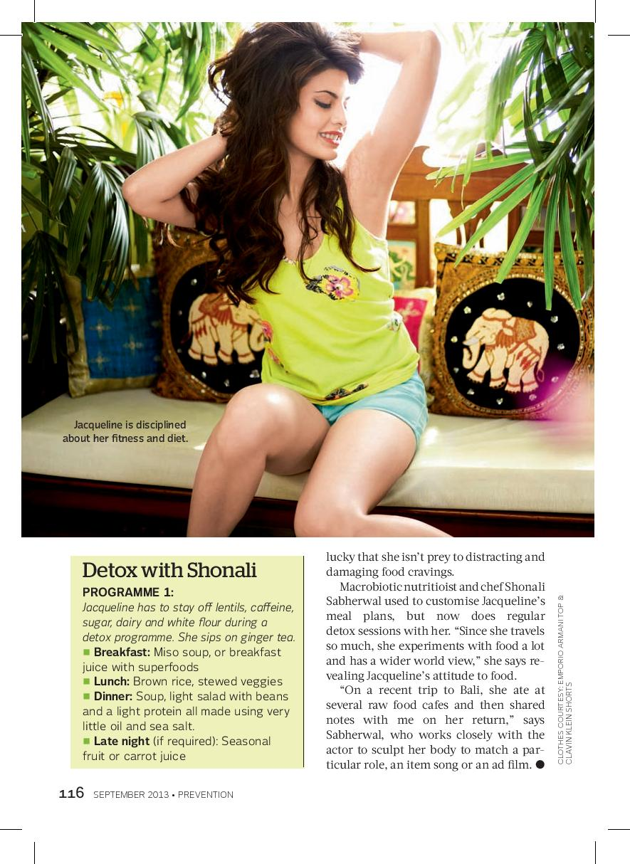 Jacqueline Fernandez. Prevention mag 2013
