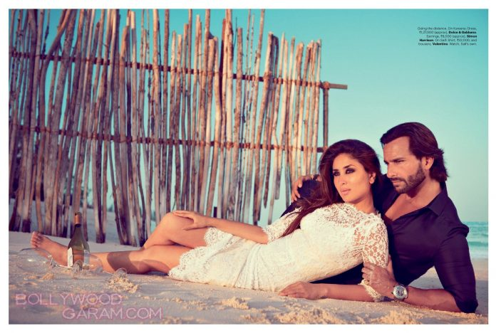 Harper's Bazaar October 2013 Saif Kareena-1