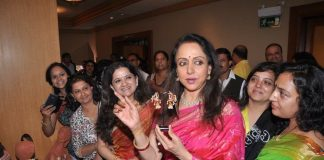 Hema Malini attends Art and Couture exhibition Sarvam Shashvatam