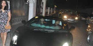 John Abraham takes a ride in his new Ferrari