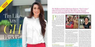 Karisma Kapoor on the cover of Good Housekeeping October 2013 issue – Photos