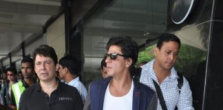 SRK, Madhuri and Jacqueline Fernandez snapped at airport – Photos