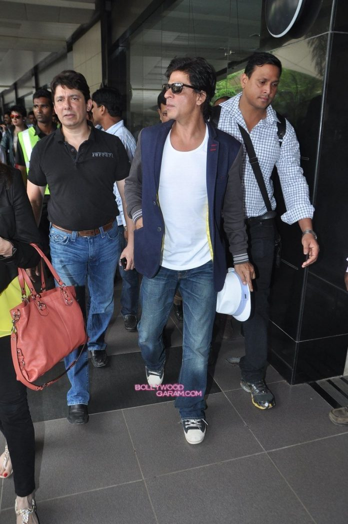 SRK Madhuri and Jacqueline at airport-2