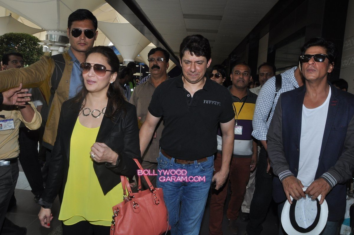 SRK Madhuri and Jacqueline at airport-3