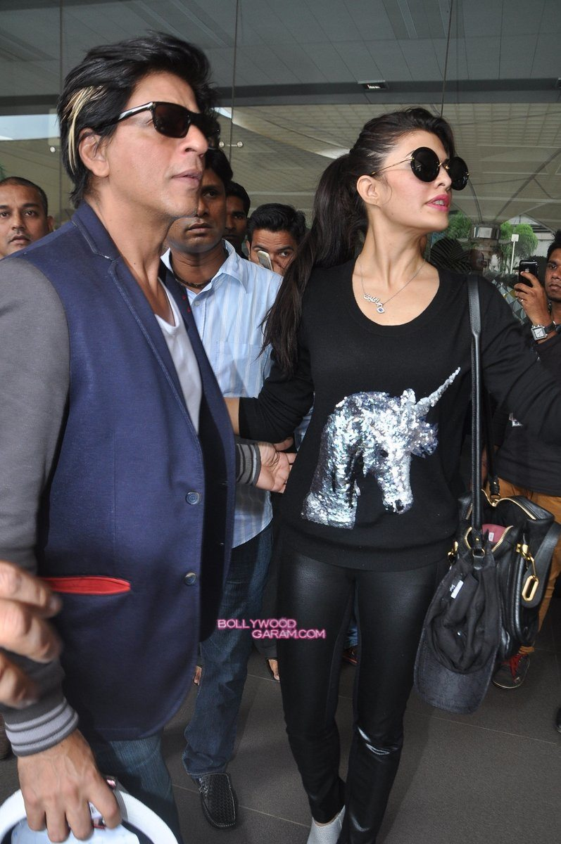 SRK Madhuri and Jacqueline at airport-4