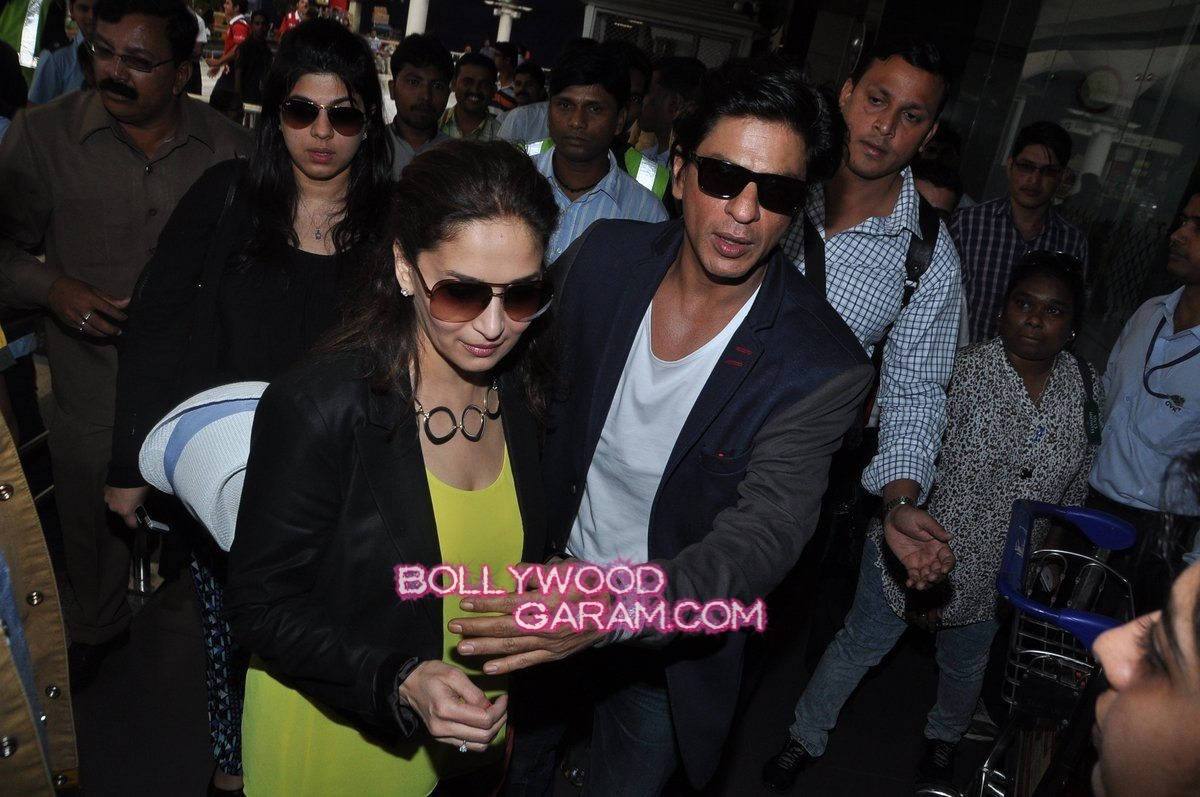 SRK Madhuri and Jacqueline at airport-7