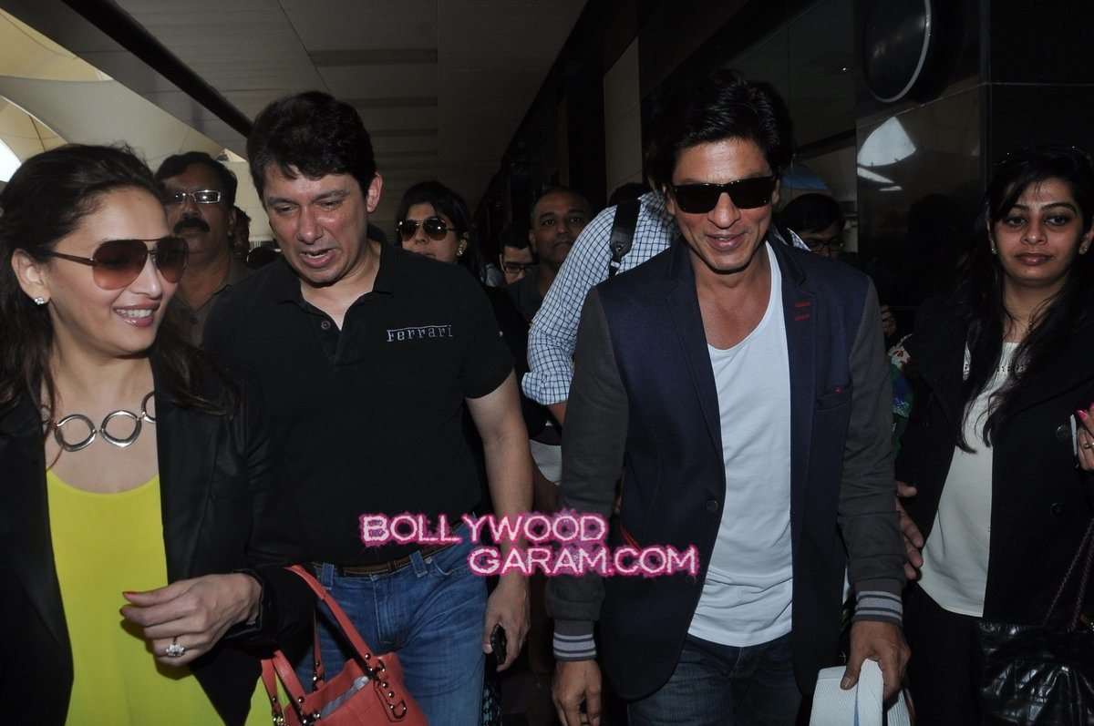 SRK Madhuri and Jacqueline at airport-9