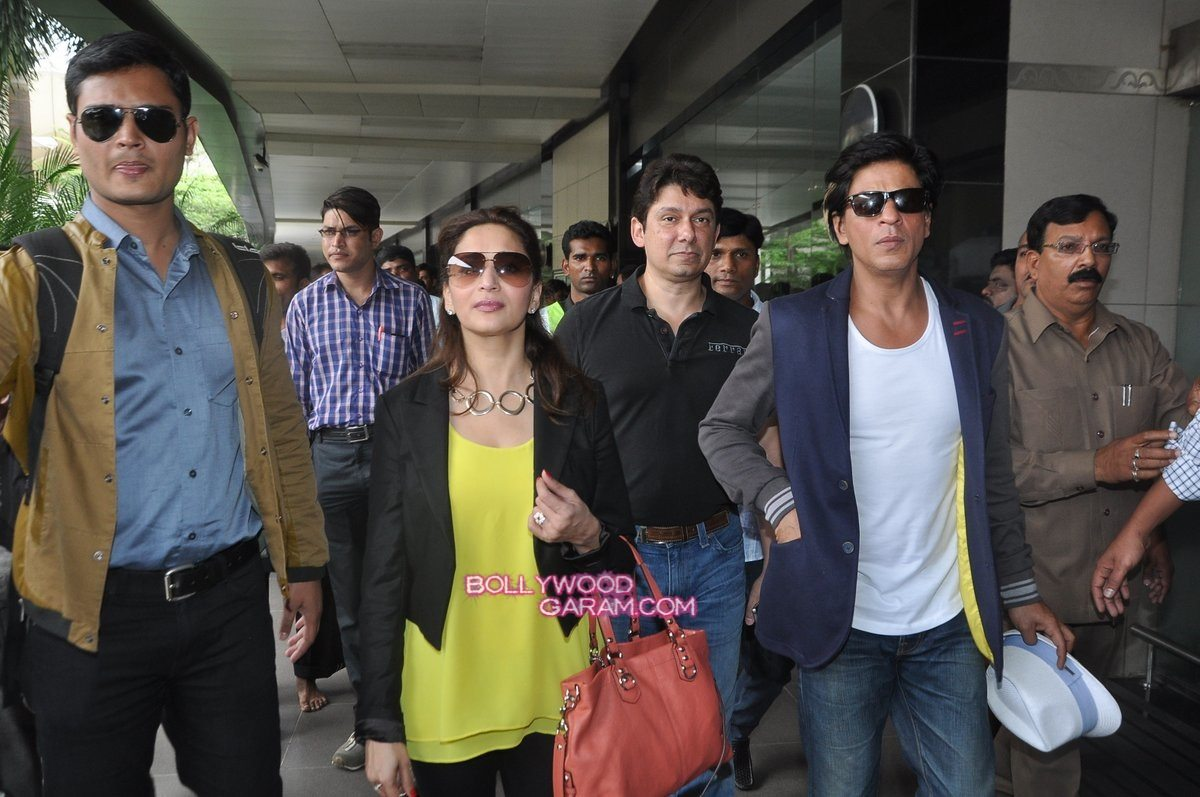 SRK Madhuri and Jacqueline at airport