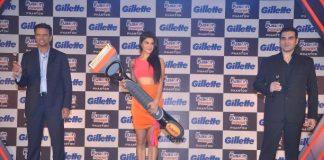 Arbaaz Khan, Jacqueline Fernandez and Rahul Dravid unveil Gillette's shaving system