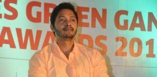 Shreyas Talpade celebrates Times Green Ganesha Awards 2013 winners