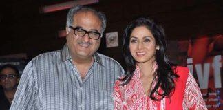Sridevi attends premiere of Bengali movie Mishawr Rahasya with husband Boney Kapoor