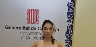 Aditi Rao Hydari walks the ramp at The Government of Catalonia's Spanish fashion show