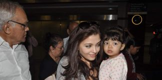 Aishwarya Rai spotted at airport with Aaradhya and parents