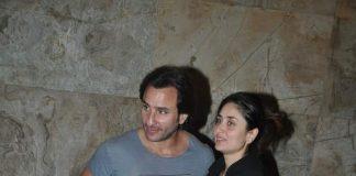 Kareena Kapoor, Saif Ali Khan and Karisma Kapoor attend Bullet Raja screening