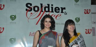Gul Panag launches Aditi Mathur Kumar's book Soldier and Spice
