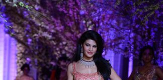 Jacqueline Fernandez walks the ramp for Jyotsna Tiwari at India Bridal Fashion Week