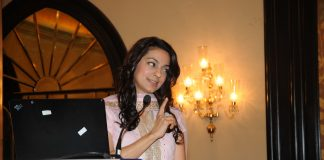 Juhi Chawla speaks about cell phone radiation at The Rotary Club