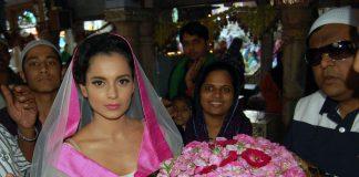 Kangna Ranaut spotted at Ajmer Dargah – Photos