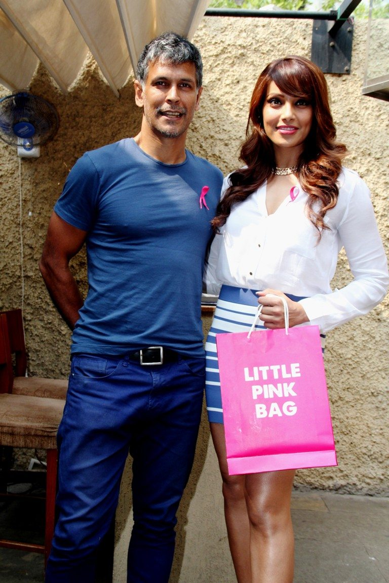 Milind Soman and Pink sister Bipasha Basu at the annoucnement of the 10000 registartion for the event