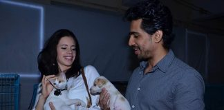 Kalki Koechlin and Gulshan Devaiah attend Pet Adoption 2013 event