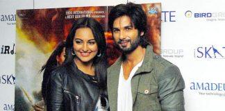 Sonakshi Sinha and Shahid Kapoor attend R…Rajkumar promotional event