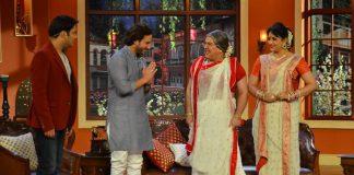 Saif Ali Khan promotes Bullet Raja on Comedy Nights With Kapil