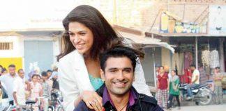 Eijaz Khan and Shraddha Das promote Lucky Kabootar in Noida