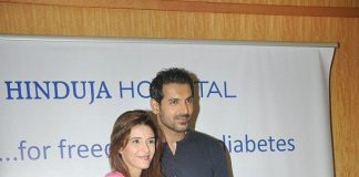 Raageshwari Loomba and John Abraham attend World Diabetes Day 2013 press conference