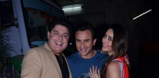 Saif Ali Khan hugs Kareena Kapoor on set of Nach Baliye