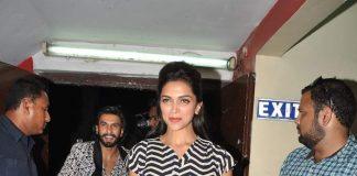 Deepika Padukone and Ranveer Singh spotted at PVR for Ram Leela screening