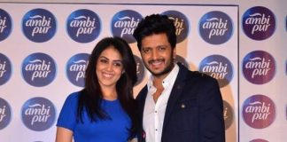 Riteish Deshmukh and Genelia D'Souza attend Ambi Pur campaign launch