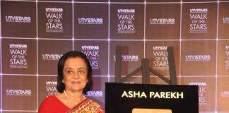 Asha Parekh unveils hand print tiles at Walk of the Stars event