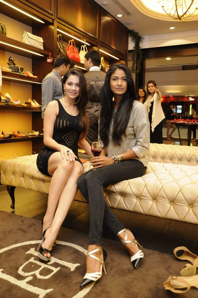 Carol Gracias & Waluscha Dsouza in Heel & Buckle shoes