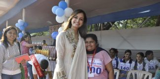 Dia Mirza attends School Sports Meet event at Jamnabai school