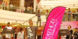 Milind Soman attends Pink Treadathon event for Breast Cancer Awareness